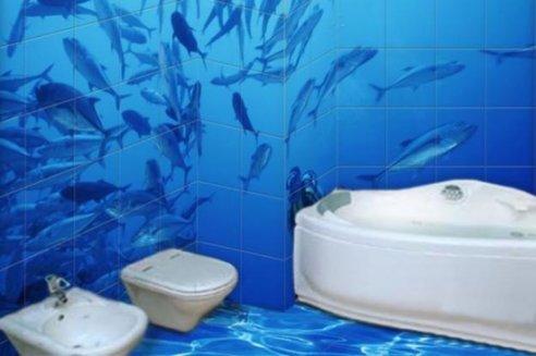 Плитка с рисунком для ванной