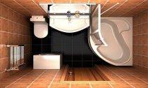Дизайн ванної суміщеної 3кВ м