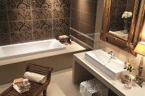 Фото коричневої ванній