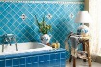 Фото ванної кімнати блакитного кольору