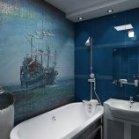 Красиве панно морської тематики з мозаїки
