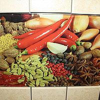 кухонний фартух з малюнком овочі