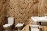 Плитка для ванної та туалету різного розміру в одному варіанті обробки