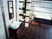 Плитка з керамограніта в інтер'єрі ванної