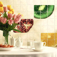 плитка з малюнком фрукти