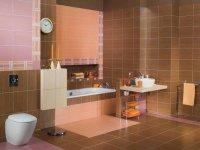 Приклад використання для підлоги кахельної плитки в дизайні ванної кімнати